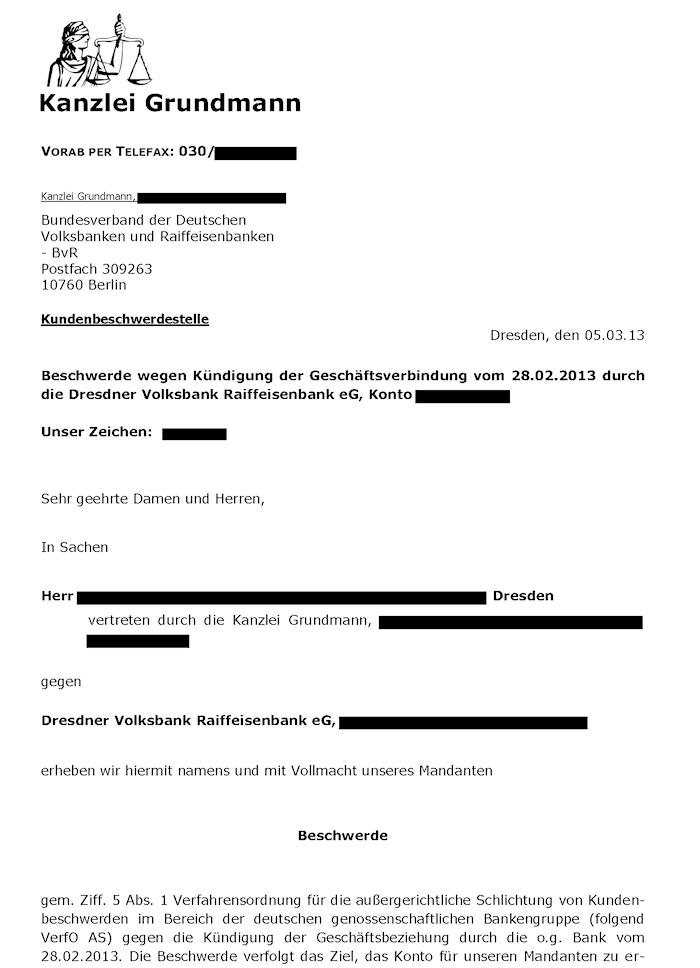 Beschwerde gegen Banken – Ombudsmann – 2. Teil: Selbstversuch ...