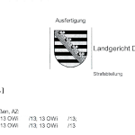 Bußgeld in der Insolvenz – Landgericht Dresden: Keine Durchsetzbarkeit der Erzwingungshaft nach Eröffnung des Insolvenzverfahrens