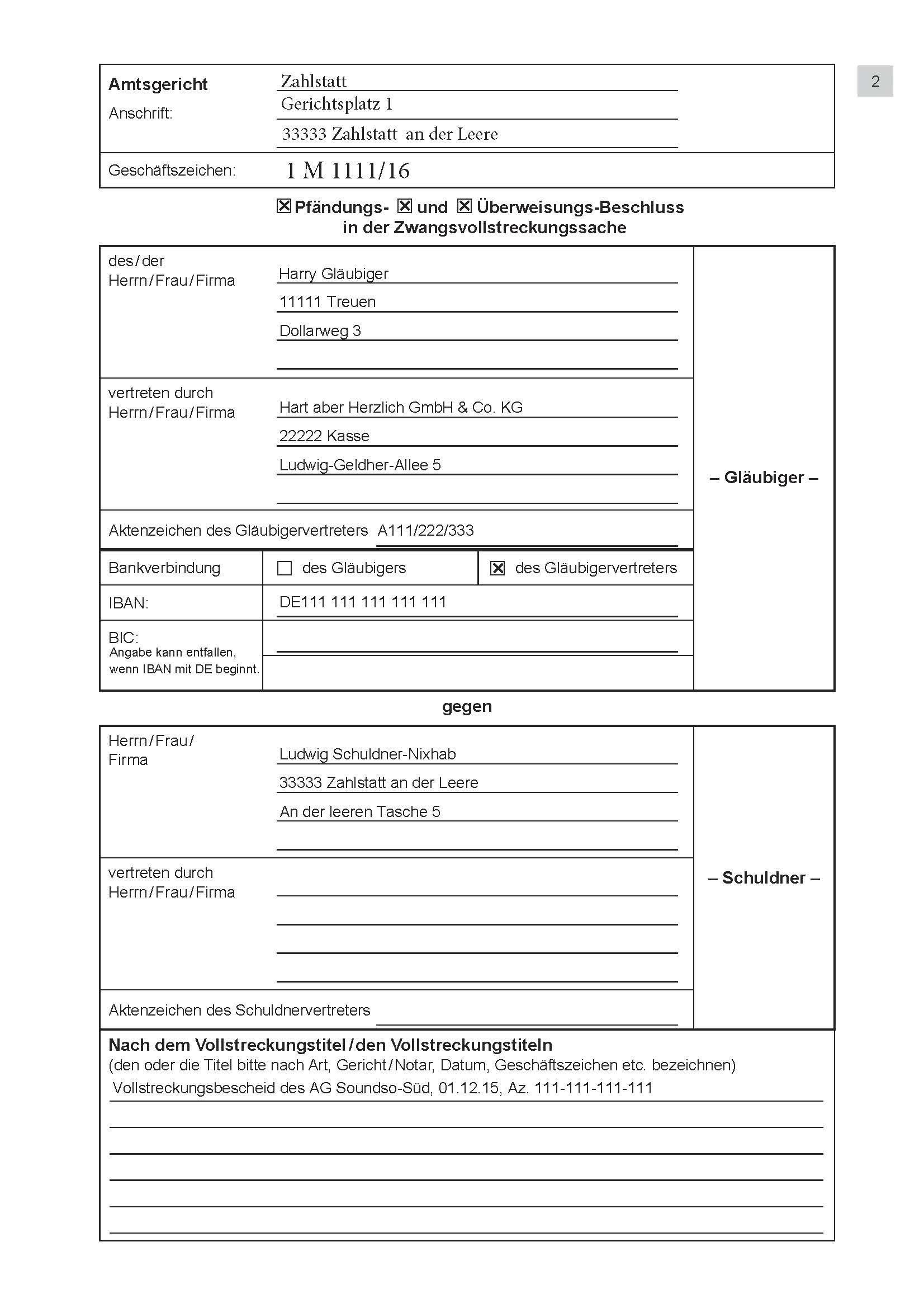 Antragstellung für Kontofreigabe – Wenn der Lohn aufs Konto kommt ...